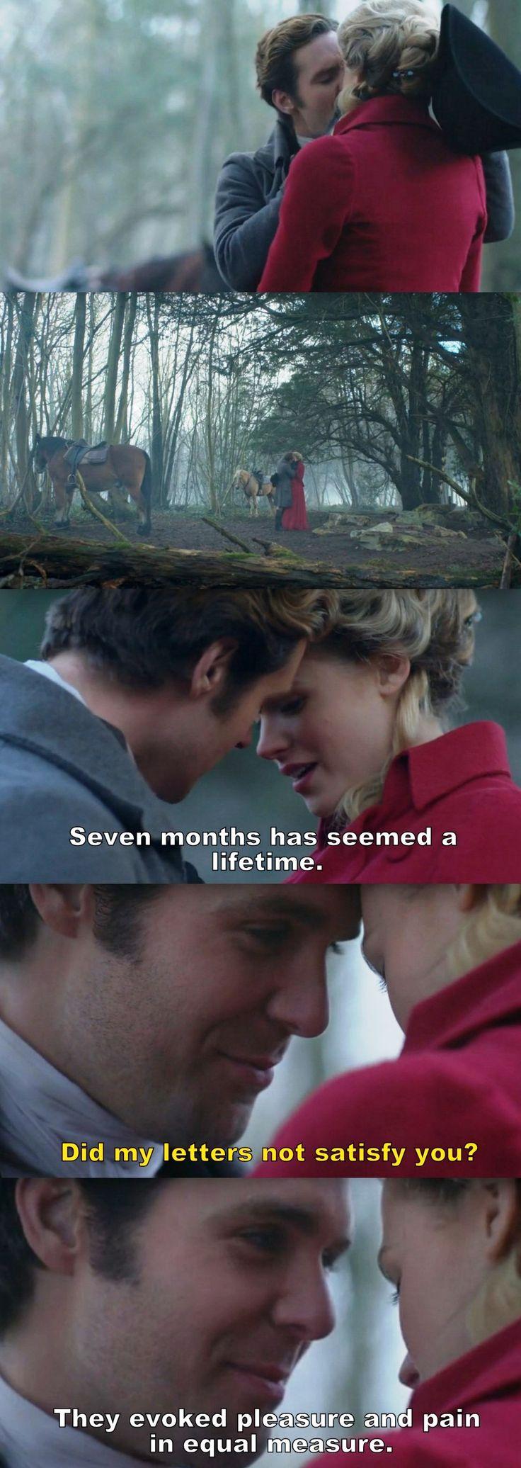 """Seven months has seemed a lifetime"" - Caroline and Dwight #Poldark"