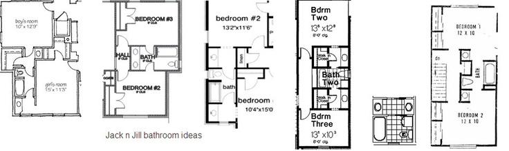 10 best jack and jill bathroom floor plans images on - Jack n jill bathroom ...