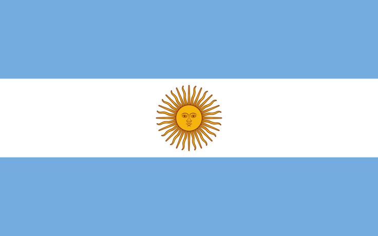 The flag of Argentina.