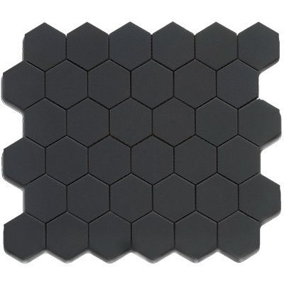 Roca Tile 2X2 Hexagon Black Matte Mosaic