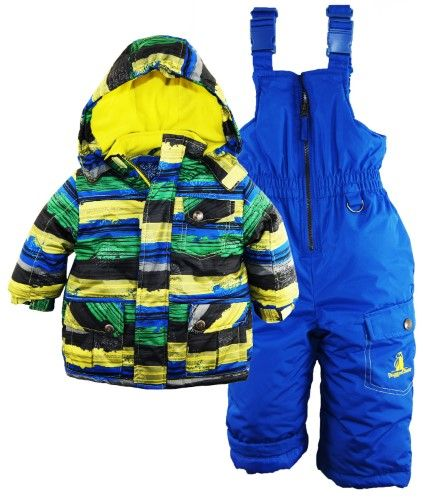 4c25c447d Rugged Bear Baby Boys   Snowflake Paint  2-Piece Snowsuit - black ...