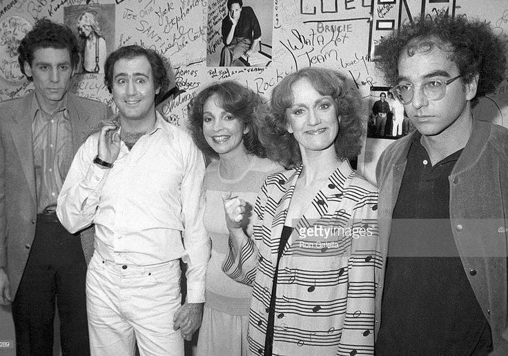 """Here's a #blastfromthepast for #throwbackthursday! Who remembers the #ABCTV comedy sketch show called """"Fridays""""? It premiered in April 1980 and ran for 3 seasons until April 1982. It featured a #SNL like format with a guest host each week and some great musical acts.  In this photo from 1981 I got some of the young and upcoming #cast members; actors #MichaelRichards and #AndyKaufman actresses #MelanieChartoff and #BrandisKemp and writer #LarryDavid backstage at the taping of the show in…"""