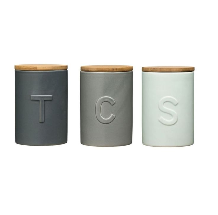 Fenwick Tea Coffee Sugar Canisters Storage Solution Complementary Design Jars Jars Design