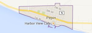 Map of pepin wi