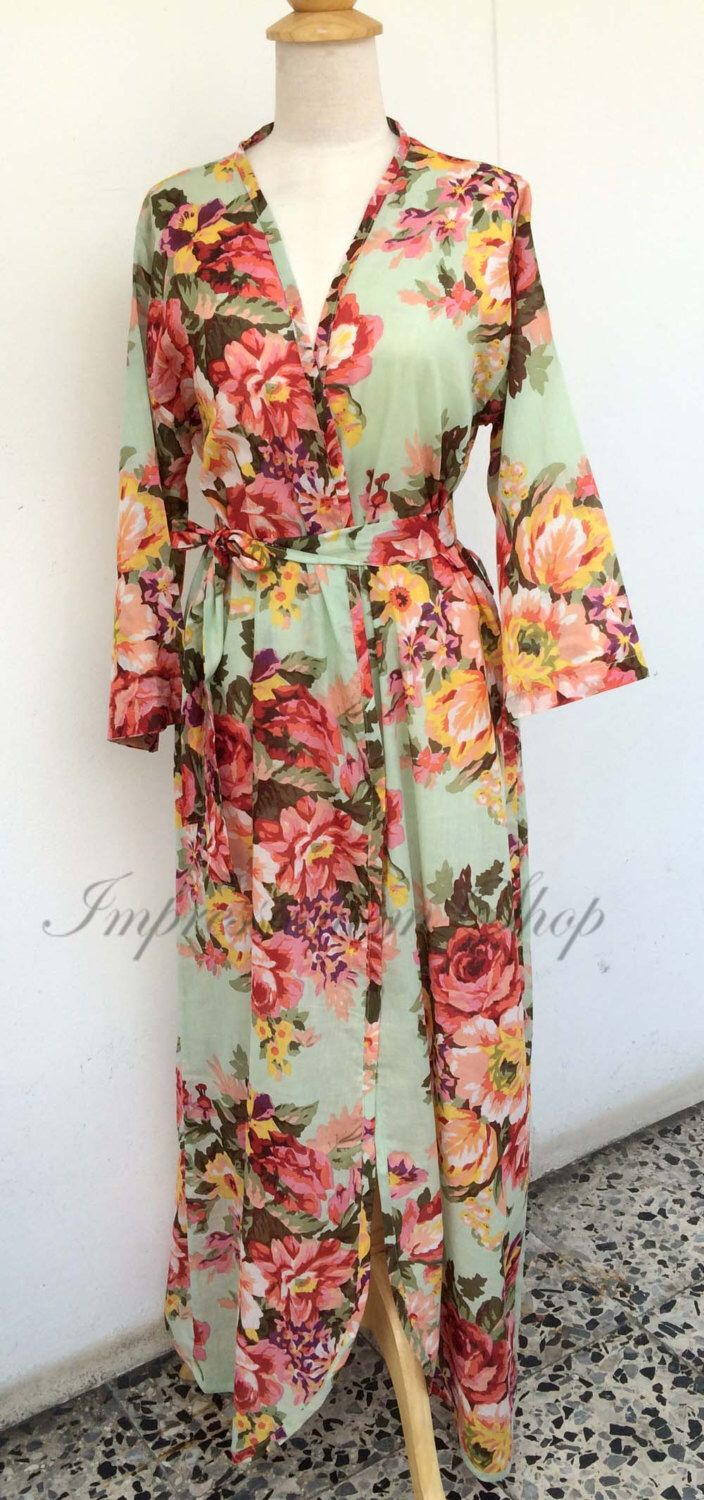 Ankle length Floral maternity robe for delivery, Any  Color Any  Size, pregnancy and labor feeding child birth, wrap around robe lounge wear by Impressionismshop on Etsy https://www.etsy.com/listing/251740737/ankle-length-floral-maternity-robe-for