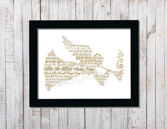 Christmas Angel Word Art Christmas Decoration by ByMyWordCreations