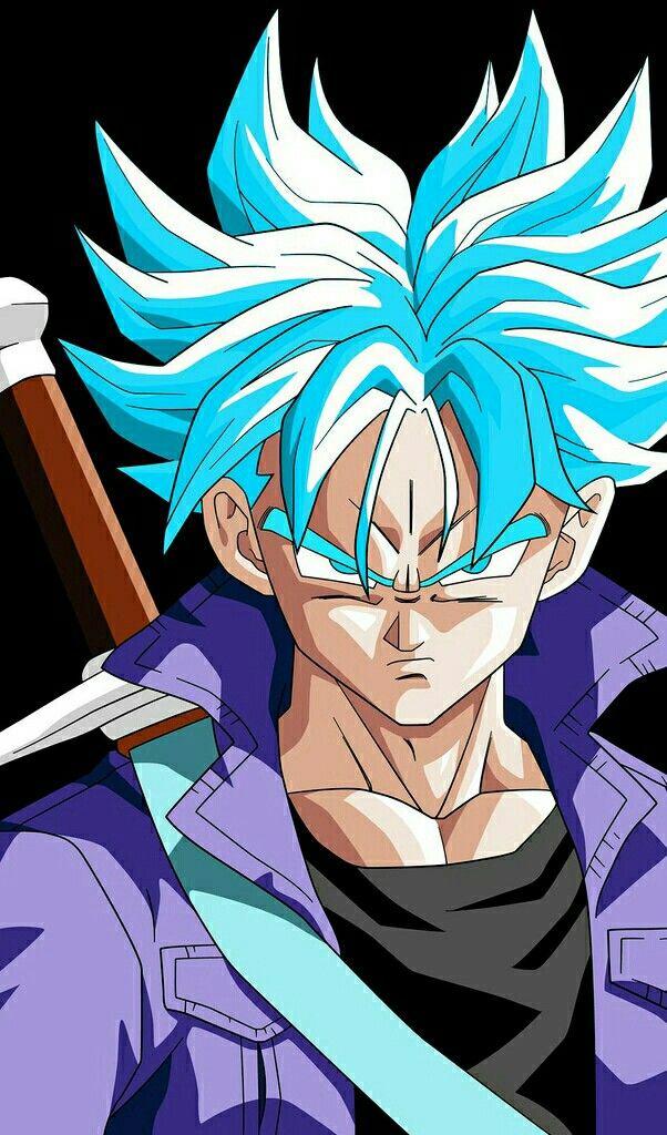 Trunks Ssj Blue Personagens De Anime Anime Goku Desenho