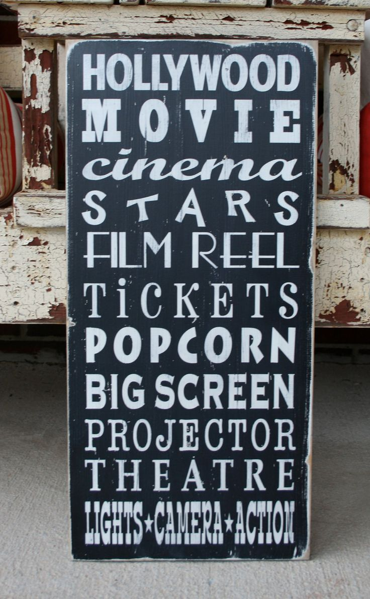 Movie Subway Art - Typography Word Art Perfect for your home theatre - Oscars. $95.00, via Etsy.