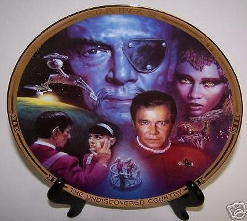 Star Trek VI Plate the Undiscovered Country Movies Collection COA