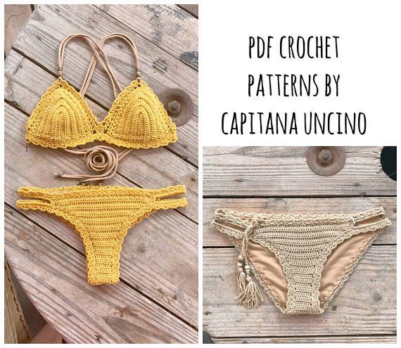PDF-file for Crochet PATTERN Marina Crochet Bikini Top and