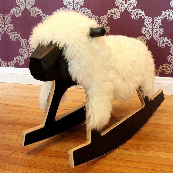 handmade sheep rocking horse on etsy: Sheep Toys, Craft, Stuff, Kids Room, Rocking Lamb, Baby, Rocking Horses