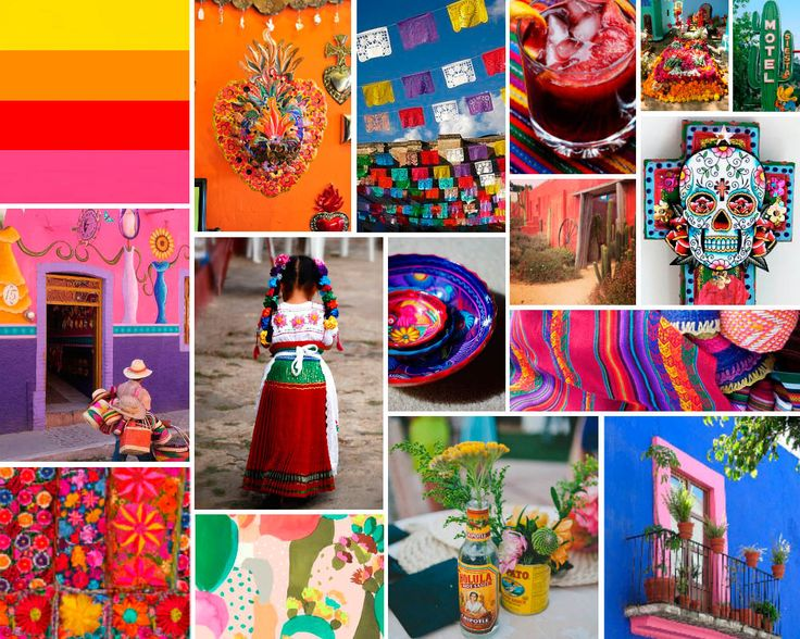 Hooray Magazine Mood Board Mexican Mexican Bright