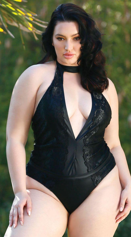 b356879adf7ec Plus Size Mystique In Morocco Swimsuit, Plus Size Black Halter One Piece  Swimsuit - Yandy.com