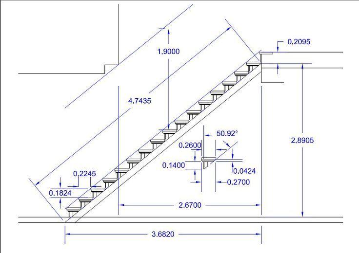 Escalera en l medidas for Trazar una escalera