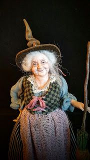 Julie Campbell Doll Artist .... this is so Nanny Ogg :)