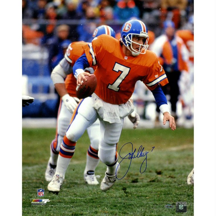 cfa8eaa7d ... John Elway Denver Broncos Super Bowl Signed 16x20 Photo (Authentic  Mitchell and Ness ...