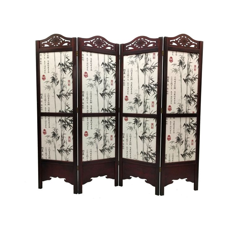 vintage wood 6foot bamboo tree room divider screen bamboo tree 6u0027 tall extra wide divider screen multi