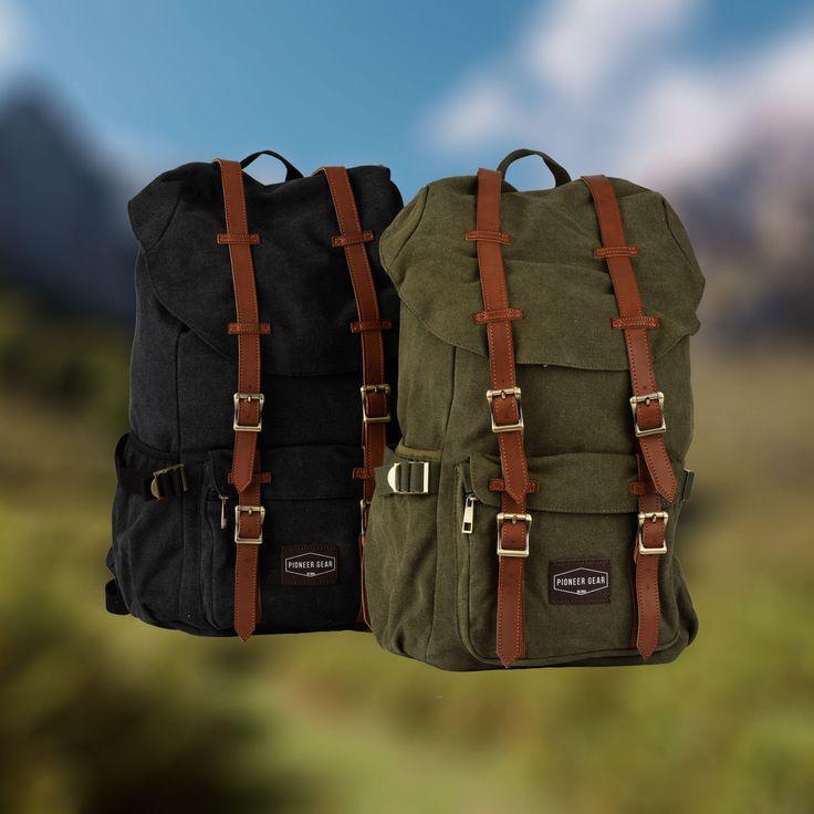 Vintage canvas backpacks