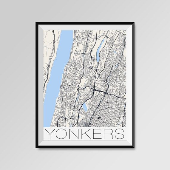 Yonkers map, New York, Yonkers print, Yonkers poster, Yonkers map art, Yonkers city maps, Yonkers Minimal Wall Art, Yonkers Office Home Décor, black and white custom maps, personalized maps