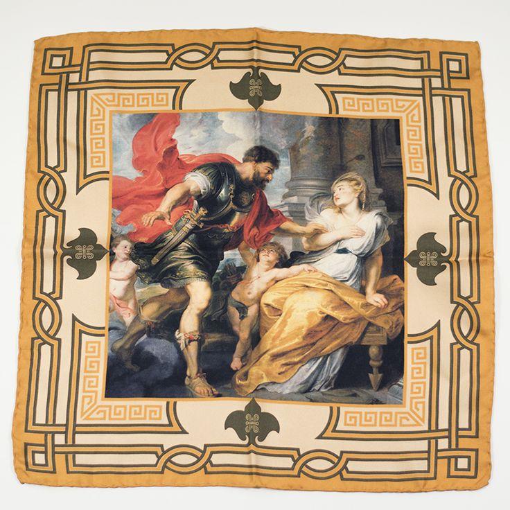 Mars & Rhea Silvia pocket square  #painting #art #menswear #hussarsmadrid #mars #rubens #pocketsquare #gentleman #silksquare