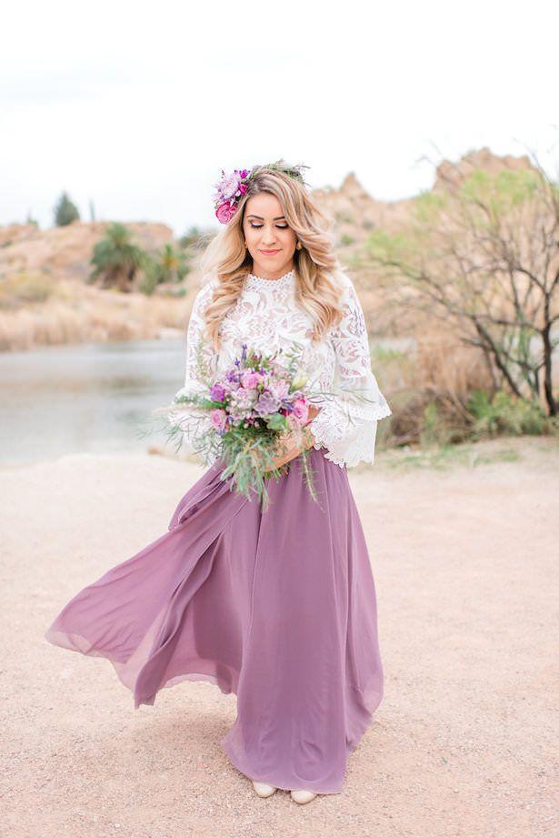 Lavender And Cactus Bohemian Bride And Maid Of Honor Inspiration Bohemian Bridesmaid Dress Summer Bridesmaid Dresses Bridesmaid Dresses Boho