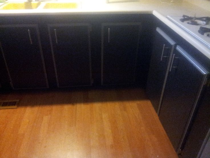 Lower kitchen cabinets finished