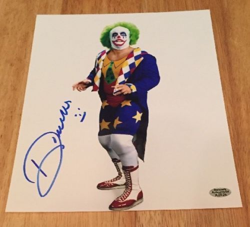 DOINK THE CLOWN Signed Autograph 8x10 Photo WWF WWE WRESTLING with Hologram COA
