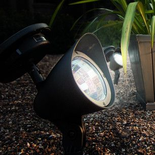 Outdoor Solar Spot Light, 3 White LEDs £3.99 - highlight specific areas or pathways in your garden