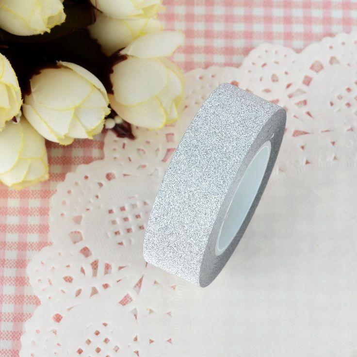 10m-Glitter-Washi-Sticky-Paper-Masking-Adhesive-Tape-Label-DIY-Craft-Decorative