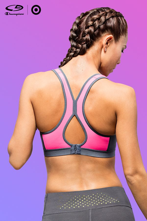 You heard it here first: Fitspiration is now wearable. Check out the all-new C9 Champion® Power Shape™ sports bra. Amazing from all angles, it's destined to be the star of your next workout outfit. Especially when it features back closure and a super brawesome hot pink hue.