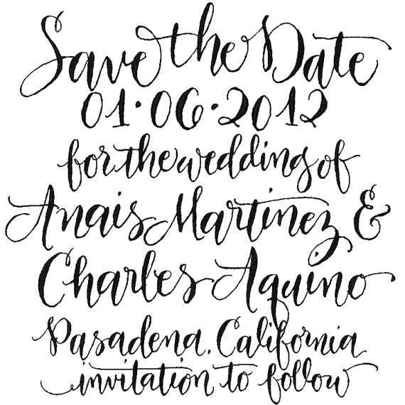 25+ Best Handwritten Wedding Invitations Ideas On
