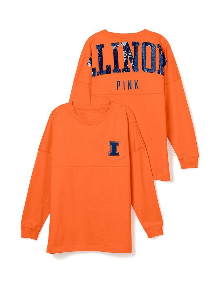 438366628f7 ... University of Illinois Bling Varsity Crew - PINK - Victoria s Secret ...