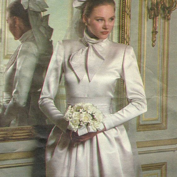 Early 1980s Christian Dior wedding dress & headpiece pattern -- Vogue Paris Original 2545 -- INCOMPLETE