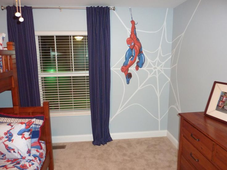 My Youngest Lives Spider Man! Great Idea For When He Gets His Own Room!  Boys Spiderman Room Provided By Zeinner Homes, LLC Custom Interior U0026  Exterior ...