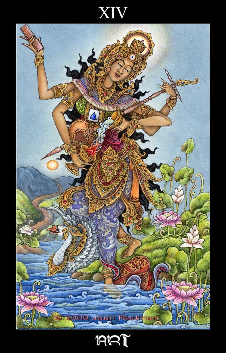 Art [temperance] : Bali Tarot