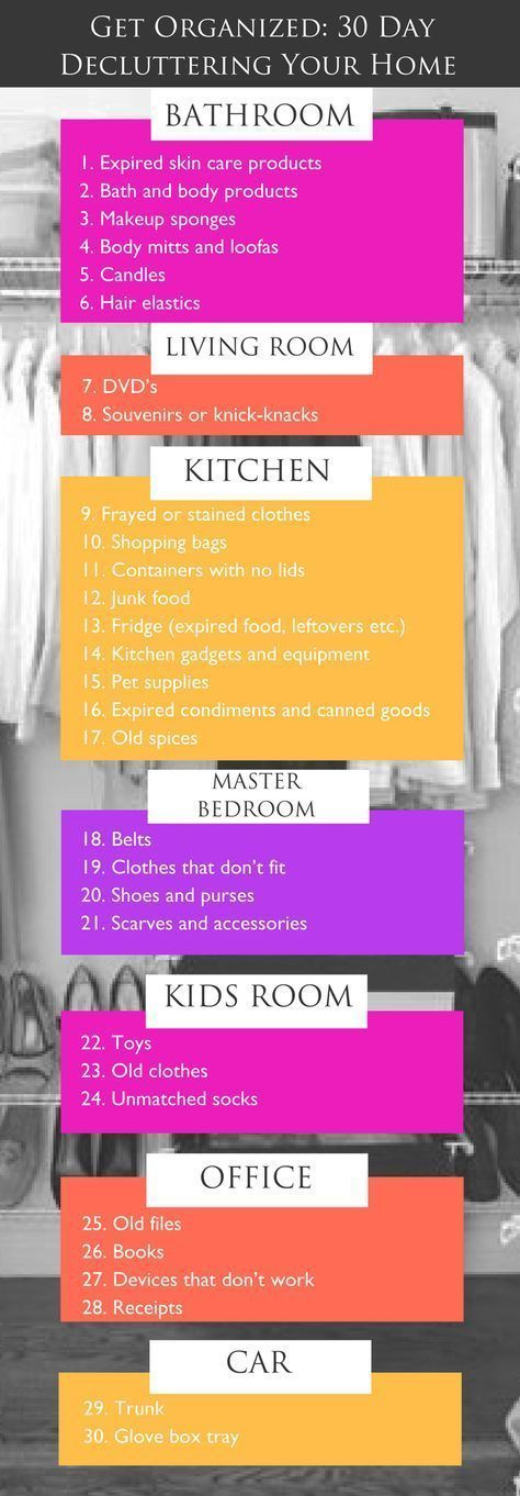 Diy home organization a 30 day plan to declutter your for Declutter house plan