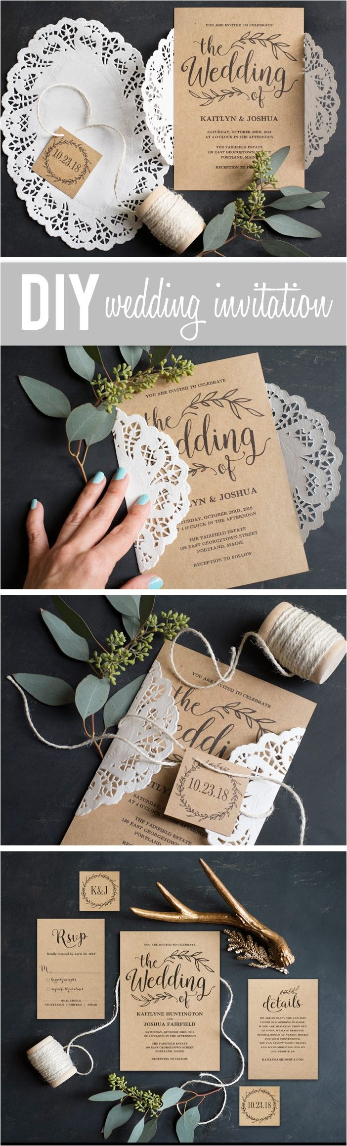 invitation letter for us vissample wedding%0A Rustic Wedding Invitation Inspiration For Your Rustic Wedding