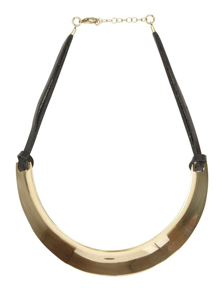 Collier métal cuir #MORGANDETOI #GOLD