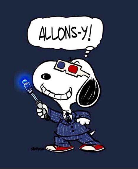Doctor Who / Peanuts mashup