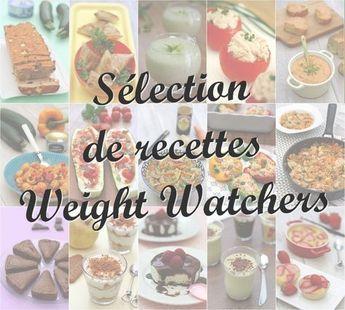 Sélection de recettes Weight Watchers classées par catégories et SmartPoints.