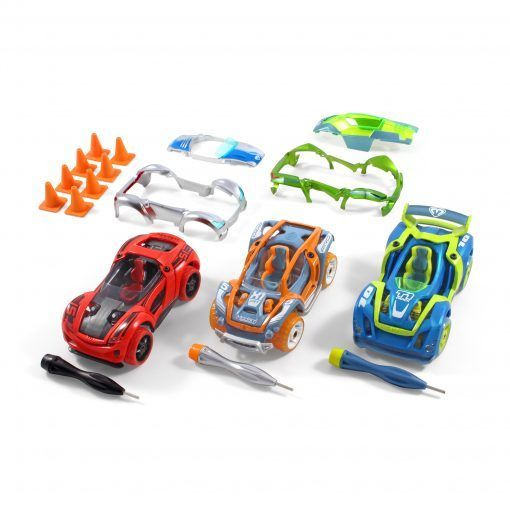 STEM toy cars - Modarri cars are perfect for kids and adults, completely interchangeable parts allowing you to build thousands of different designs. Parents love building Modarri cars with their kids