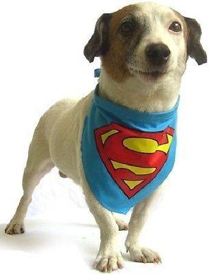 New Pet Dog Clothing Warner Bros Superman Fancy Dress Bandana Three Sizes
