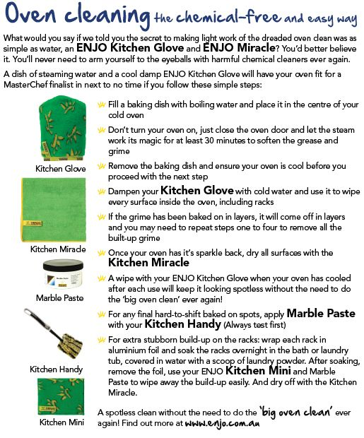 Oven Cleaning with Enjo Oven Glove