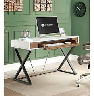 Attractive Whalen Furniture Samford Contemporary Two Tone Laptop Desk 47.64 Part 7