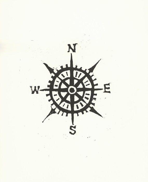 A compass or perhaps north arrow