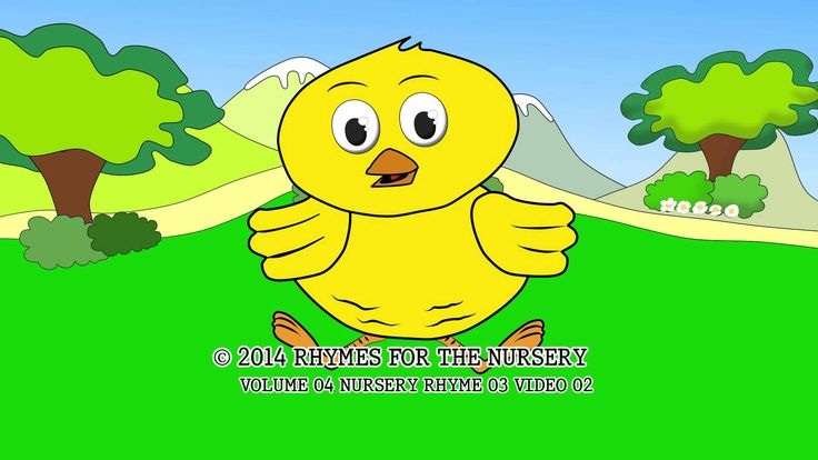 Chick or baby Chicken Coloring pages of Nursery Rhymes Vol. 4, Nursery Rhyme 3, Video 2. Print coloring page of baby chicken at 1:55 time frame of this cartoon