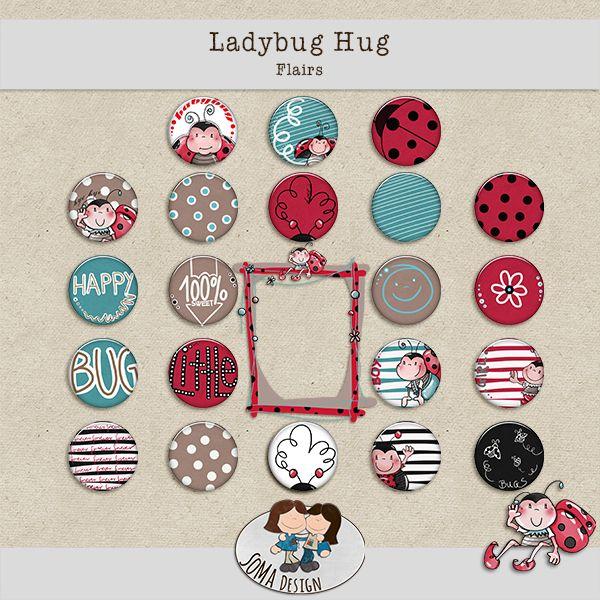 SoMa Design Ladybug Hug Freebie Flairs