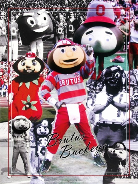 Ohio State Buckeyes mascot Brutus Buckeye's look has been updated several times since 1965.