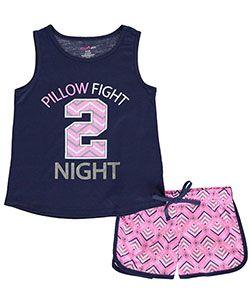 "Delia's Big Girls' ""Pillow Fight Night"" 2-Piece Pajamas (Sizes 7 – 16) - CookiesKids.com"