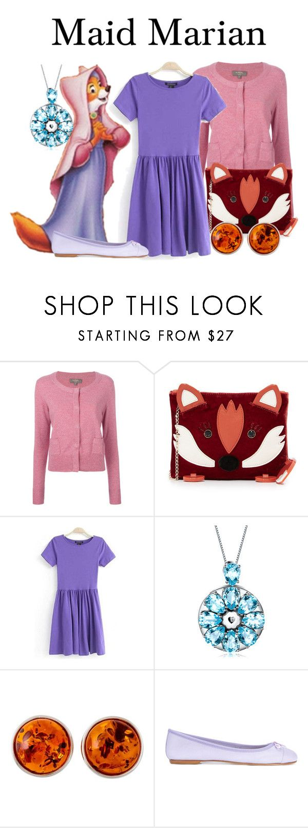 """""""Maid Marian"""" by megan-vanwinkle ❤ liked on Polyvore featuring N.Peal, Charlotte Olympia, Be-Jewelled and ANNA BAIGUERA"""